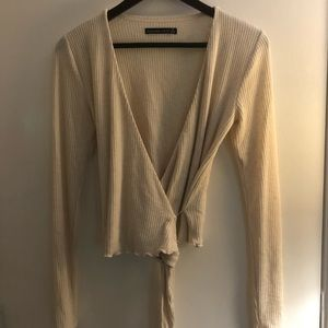 Abercrombie and Fitch wrap sweater